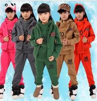 Children's clothing 2013 child sports casual set child cotton-padded jacket sweatshirt piece set  Three-piece set free shipping