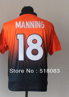 Free Shipping 2013 Men's Elite Drift Fashion II 18 Peyton Manning Navy/Orange Cheap Football Jerseys Sewing logos Size:40-56