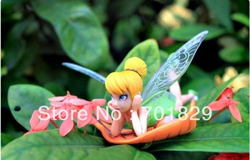Free Shipping High Quality PVC (6pcs/set) Tinkerbell Fairy Adorable Tinker Bell Toys Figures Retail 30 sets/lot
