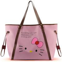 Sanrio Hello Kitty 2014 New Women Travel Bags Women Handbag Waterproof Bag Women Shopping Bag Travel Bags Women Tote
