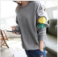 2013 Autum Winter Varsity Jacket Coat Cute Fleece pullover,ladies hoodie/sweatshirt,cheap price