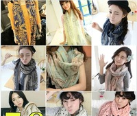 FREE SHIPPING 2013 silk scarf fluid scarf autumn and winter female cape dual-use ultra long thermal decoration muffler scarf