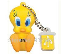 100% real capacity Free shipping U Disk Gift CartooneTweety bird pen drive 16GB usb  Flash Memory Stick Pen Drive S70  BB