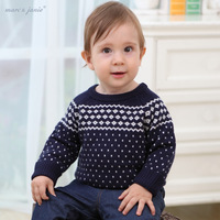 Jenny marcjanie autumn male wool o-neck knitted pullover baby sweater children's clothing