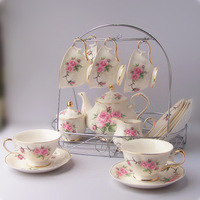 Red 15 afternoon tea coffee cup set fashion tea set coffee set