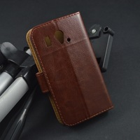 Luxury Crazy Horse Flip Leather Case Cover for For Huawei U8812D Ascend G302D With Stand Style And Card Slots,Free Shipping