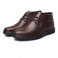 Free shipping, Winter, warm,Wool,  male cotton-padded shoes, leather, velvet plus snow boots