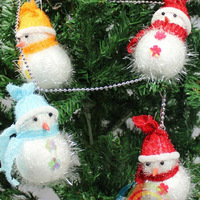 Christmas decoration supplies christmas tree 10cm snowman doll with chain