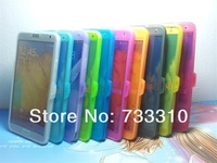 Full Front wake/sleep Open window S view TPU cover case for Samsung galaxy note 3 Note3 III N9000 100pcs free