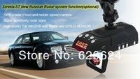 hot sell Russian menua and Voice Radar Detector car DVR with gps 3 in 1, GPS+HD720P DVR Camera Russian Menu+ Build-in G-Sensor
