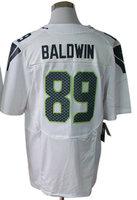 2013 New Arrival!!!American Football Elite Jersey #89 Doug Baldwin White Elite Jerseys Men's Size 40-56 All Stitched(Sewn on)