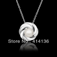 Vintage Circle Evening Dress Pearl Necklace Fashion Jewelry For Women