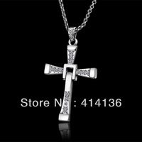 18K RGP Vintage Cross Bijoux Necklace Fashion Jewelry Men