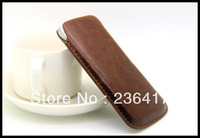 New High Quality  Luxury Leather Pouch Bag Case for Iphone 5 5G 5th & Ipod Touch 5 Free Shipping Wholesales For Sanmsung S4 S3