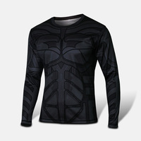 Hot Batman Costume Cycling Kits Bicycle Wear Long Sleeves Shirt Bat-Man Size S-3XL