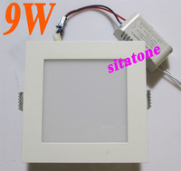 wholesale 2 year warranty Free shipping AC85-265V or 12V  9W LED down light 9w  led ceiling light 100-110lm/W
