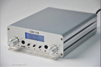 Free shipping CZH-15A 15W FM radio broadcast PLL transmitter FM transmitter silver color