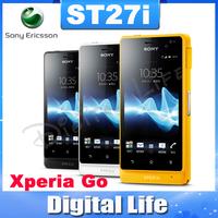 ST27i Original Sony Ericsson Xperia Go ST27 GPS WIFI 5MP Dual Core Unlocked Mobile Phone