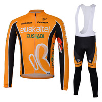 2013 New Spain/Spanish bicicletas clothes cycling winter thermal sleeves fleece long cycling jersey bib pants ciclismo maillot