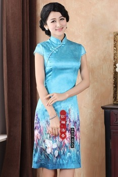 2013 heavy elastic silk mulberry silk cheongsam dress cooked classic cheongsam