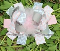 6inch Girl's Large Boutique Rainbow baby hair bow Hair Accessories  Sculpture hiar clips children bows