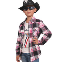 Children's clothing 2013 autumn medium-large male child square grid shirt long-sleeve shirt