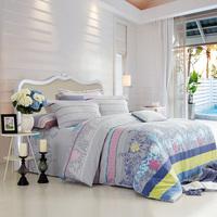 Vosges piece home textile bedding set full cotton stripe 100% slanting print 1.8 meters bed sheets duvet cover