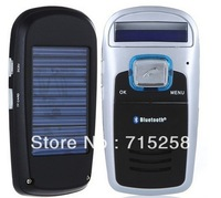 Hotsale Practical  Car Kit Handsfree calls FM MP3 Bluetooth Player  Solar Powered Free shipping