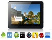 Freelander PD80 A31 Quad core 9.7 inch IPS Retina Android 4.1 tablet pc 2GB RAM 16GB RAM dual camera 2048x1536 pixels