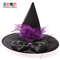 2014 Special Offer Real Freeshipping Sky Cake Accessory 2.3-2.5m Halloween Clothes Props Hat Witch Hats Cos Female Small