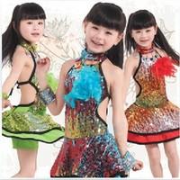 National dance skirt princess dress costumes child costume pavaner Latin dance 12612