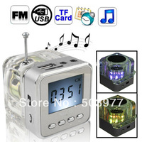 10pcs/Lot TT029,NiZhi-Portable Mini MP3 Speaker with TF/USB/FM Radio with Free Shipping