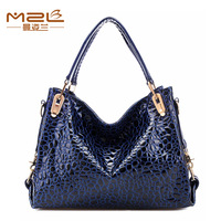 Bags spring 2014 new female shoulder bag genuine leather handbag women famous brand cowhide female crocodile pattern handbag