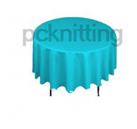 Free Shipping best selling polyester Turquoise 90 inches table cloth party table cover