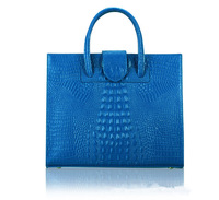 Free shipping 2013 women's bags genuine leather handbags first layer crocodile pattern medium(30-50cm) real leather brand design
