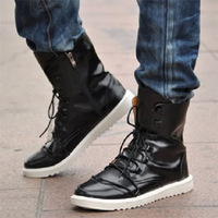 Male boots male casual leather boots popular high men's fashion martin boots
