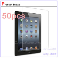50X Ultra Clear Screen Protector Shield Guard Film for New iPad 2 3 4, Screen Protector for iPad LCD Clear Transparent