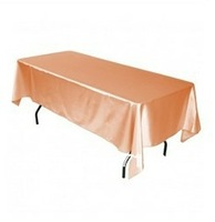 Free Shipping hot selling Peach Square satin 60*102 ines tablecloth