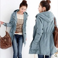 Juniors clothing spring and autumn teenage 2013 trend trench casual outerwear outergarment