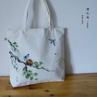 Chinese style plum plus size messenger bag one shoulder 100% cotton canvas bag