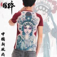Quintessence peking opera t-shirt male chinese style oversized top short-sleeve
