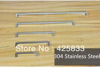 4pcs 256mm 304 Stainless Steel Big Door Handles & Pull for Modern Furniture Dresser and Kitchen Drawer Hardware