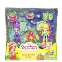 Free Shipping Strawberry Shortcake Starry Slumber Party, Mini Figure Two Pack Smells Berry Sweet Girls Toys Gift