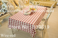 "70""by 84""Polyester table cloth for restaurant/ Yarn dyed Plaid wine red  tablecloth"
