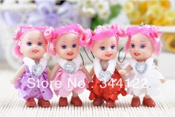 Wholesale 2014 New Confused Odd Dream Doll Creative Mobile Phone Pendant Gifts Christmas Gift 100pcs/L free shipping
