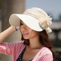 Free shipping Women beach cap fashion charm flower cap colorful woman cap 2013 hot sale hat Newest promotion gift