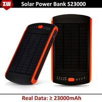 Free Shipping 23000MAH Solar power bank, portable mobile power bank, external battery STD S23000 backup battery,portable charger