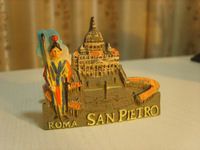 San Pietro World Tourism Memorial Souvenir Gift Handmade Fridge Magnetic Memo Holder