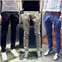 free shipping 2013 autumn male casual pants slim men's clothing taper harem pants trousers spring male