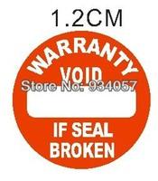 3000pcs/lot Warranty sealing label sticker void if seal broken, diameter 1.2cm, Item no.CU15, free shipping